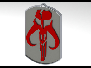 Mandalorian Dog Tag