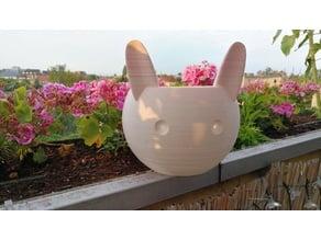 Cute Rabbit Pot - wider base