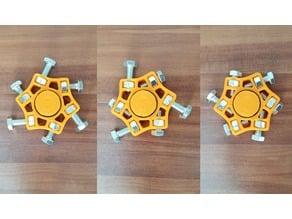 adjustable M5 star fidged spinner for 22mm bearing