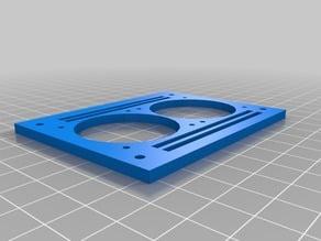 RAMPS 1.4 Twin 40mm fan mounting plate