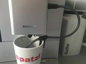 tube-holder coffee machine