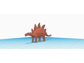 Low Polly Stegosaurus