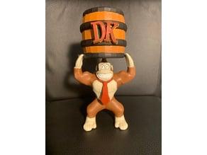 Donkey Kong and Barrel