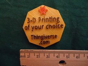 Gift Token For 3D Printing