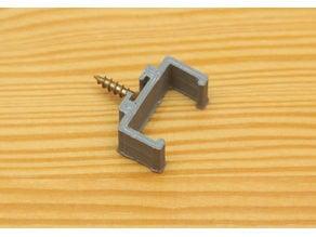 Customizable LED strip profile clip