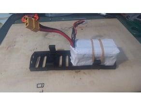 Battery plate for 2 x 4s 18650 battery packs