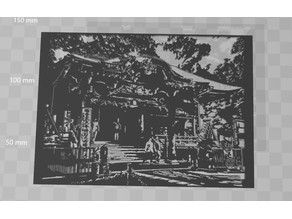 Stencil :Japanese Shrine