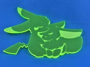 Eevee and Pikachu Acrylic Cutout