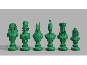 Undead Chess Pieces -- Resized and Rebased