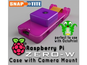 pi Zero-W case with cam mount (OctoPrint)