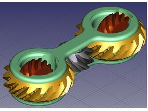 Fidget Gears V3, Print in place