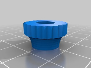 My Customized Ultimate Nut Knob Generator - 4mm rounded