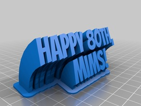 My Customized Sweeping 2-line name plate (text)MIMS