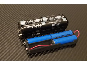 12V 8AA to 3 14500 Li-Ion adapter
