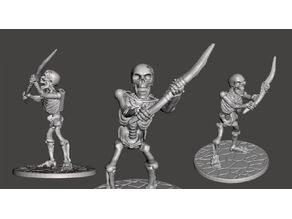28mm Skeleton Warrior with Longbow, Damaged & Out of Arrows !