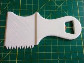 Surfboard Wax Comb and Scraper with Bottle Opener