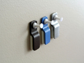 Wall mount paper clip