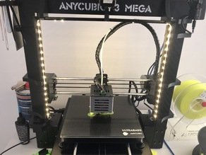 Anycubic i3 Mega LED Holder with Camera + Raspberry Pi Housing