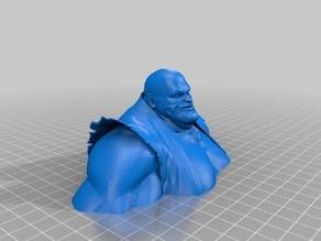 Big Guy Statue Split