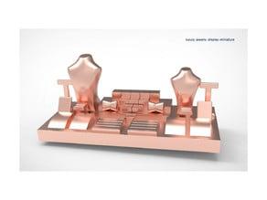 luxury jewelry display miniature