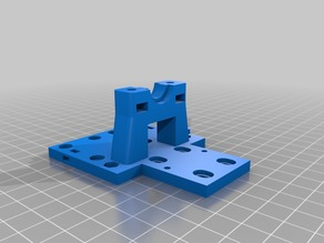 E3Dv6 Bowden X-carriage mount v2 for ANET A8