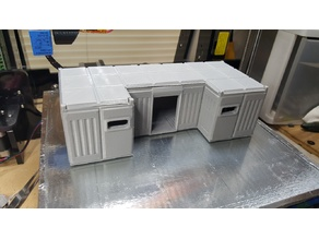 Wide bunker for tabletop gaming