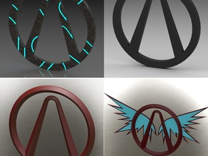 Assortment of Borderlands logos