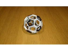 Truncated icosahedron - soccerball