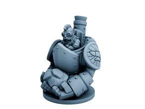 Dwarfclan Stonethrower (18mm scale)