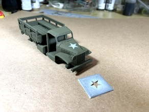 US army star stencil for airbrushing