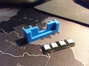 LED strip holder for FPV quadrocopter