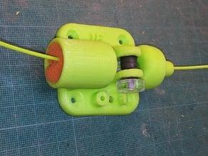 Filament cleaner with jam sensor