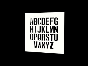Monospaced Stencil Font for OpenSCAD