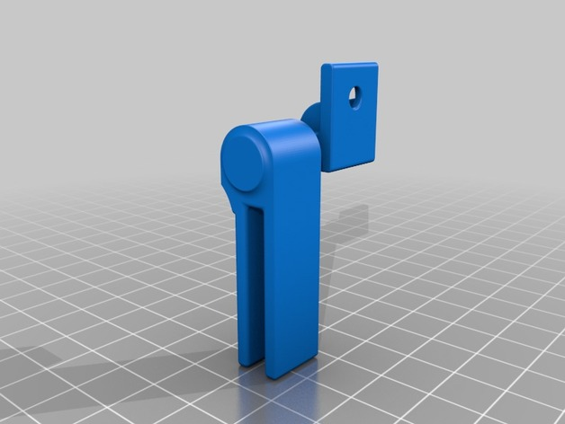 Small hinge for 4mm acrylic sheet by Beaver_Electronics