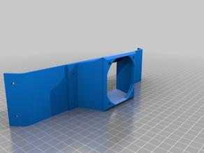 Jaycar TL4100 Delta Printer Base Cooling Shroud