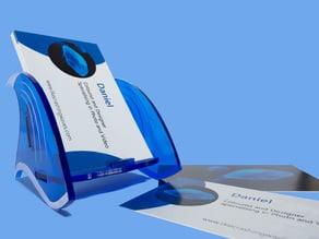 Wave-shaped card holder