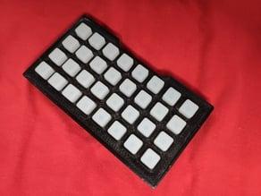 Adafruit NeoTrellis M4 parametric snap-fit case