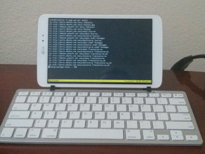 Clip-on Tablet Stand for a Bluetooth Keyboard