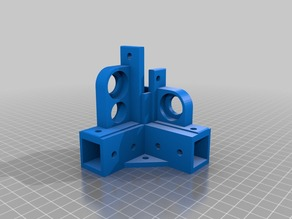 Cl-260 Ultimaker clone tuning parts - 2020 precision extrusion connectors + axis + stepper mounts