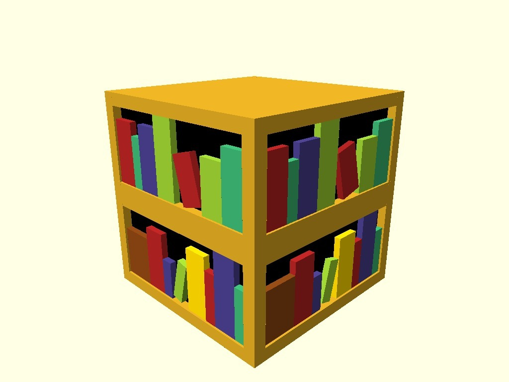 Minecraft Bookshelf By Johnbentcope Thingiverse