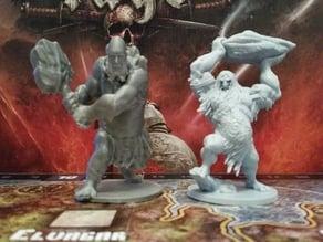 Mountain Giant mini, proxy for Blood Rage Kickstarter Exclusive