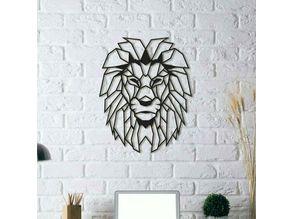 Lion Wall Sculpture 2D