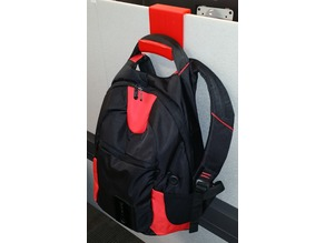 Backpack Hanger for cubicle walls