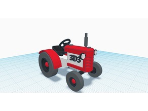 Remake of Tractor design found in tinkercad