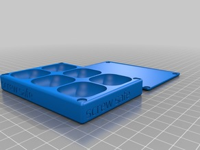 Screw tray/box with magnetic lid (8mm magnets underneath, 6mm for lid)