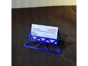 Triangulated Business Card Holder / Stand