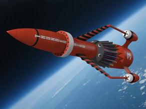 Thunderbird 3 style rocket