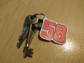 58 marco simoncelli Keyring