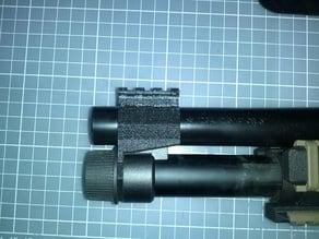 Picatinny rail front sight base for Tokyo Marui M870 Breacher airsoft shotgun