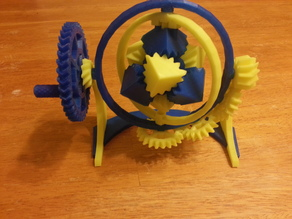 The Amazing Gyroscopic Cube Gears!